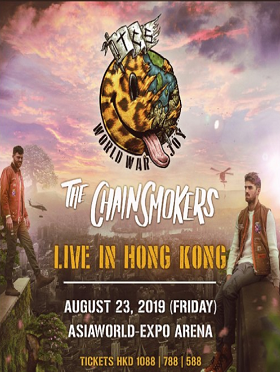 The Chainsmokers World War Joy Live in Hong Kong 烟鬼 香港演唱会 2019