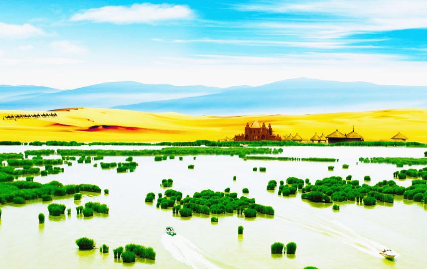 沙湖景�^