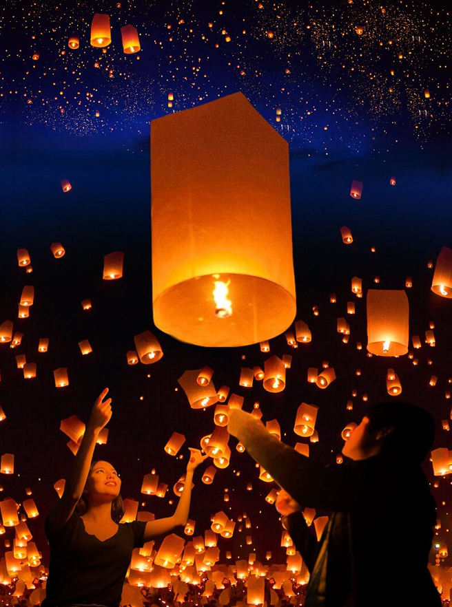 清迈纳兰天灯节