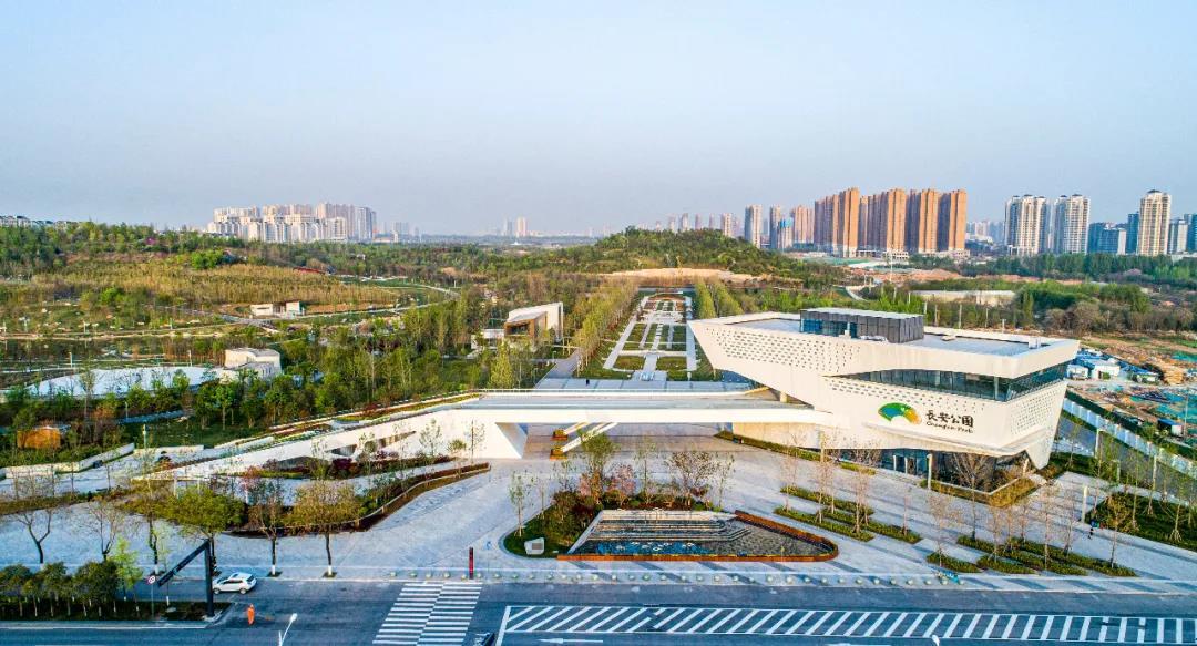 太漂亮了!西安长安公园还未正式开园,但是它的美已经刷爆圈~