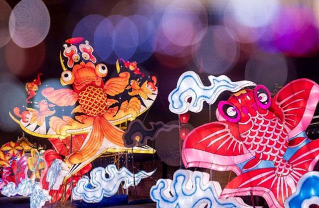 西安城墙2019新春灯会+祈福灯笼