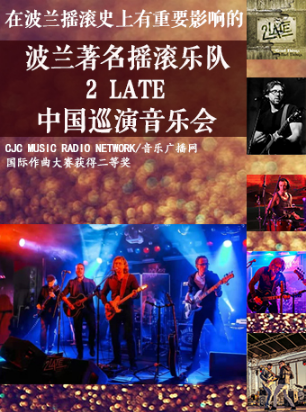 波兰著名摇滚乐队2Late中国巡演音乐会滨州站