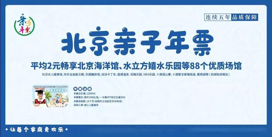 2020北京亲子年票优惠价格及使用有效期