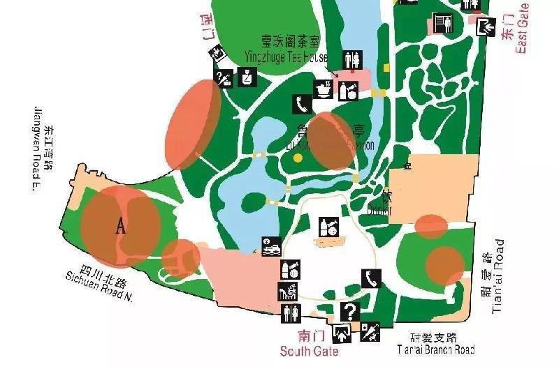 鲁迅公园赏樱路线图攻略
