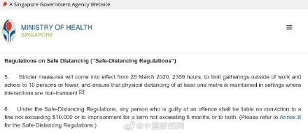 新加坡严厉新规!违反规定者将处以最高1万新加坡元(近5万人民币)或6个月以下的处罚,或两罚并处