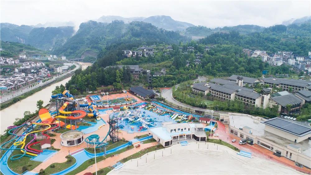 贵州石阡温泉小镇水乐园