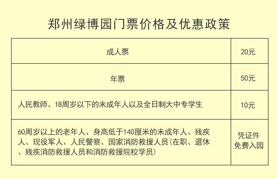 2020郑州绿博园门票多少钱?在哪订票?