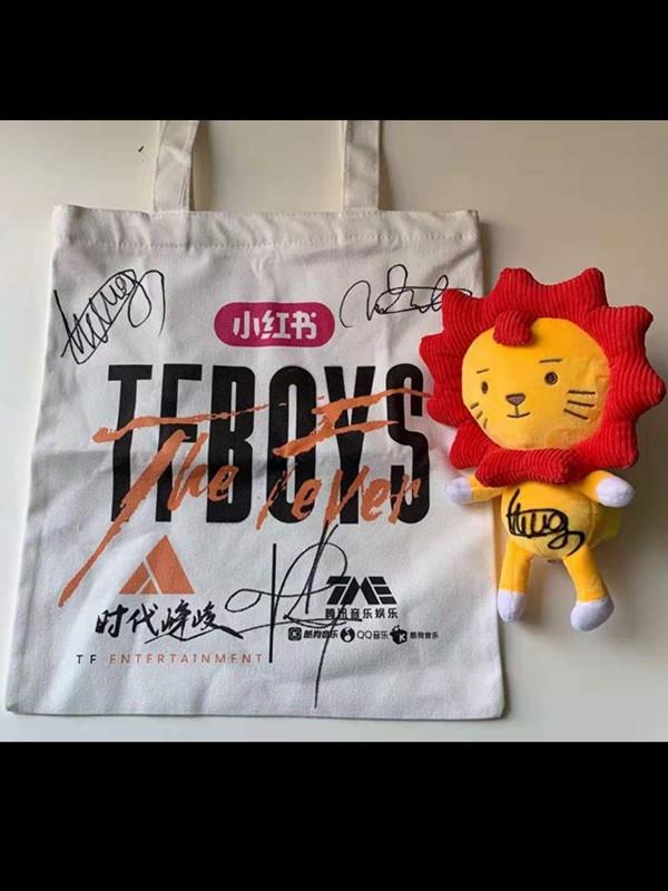 【明星周边】TFBOYS团签包+玩偶