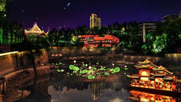 自贡夜游釜溪
