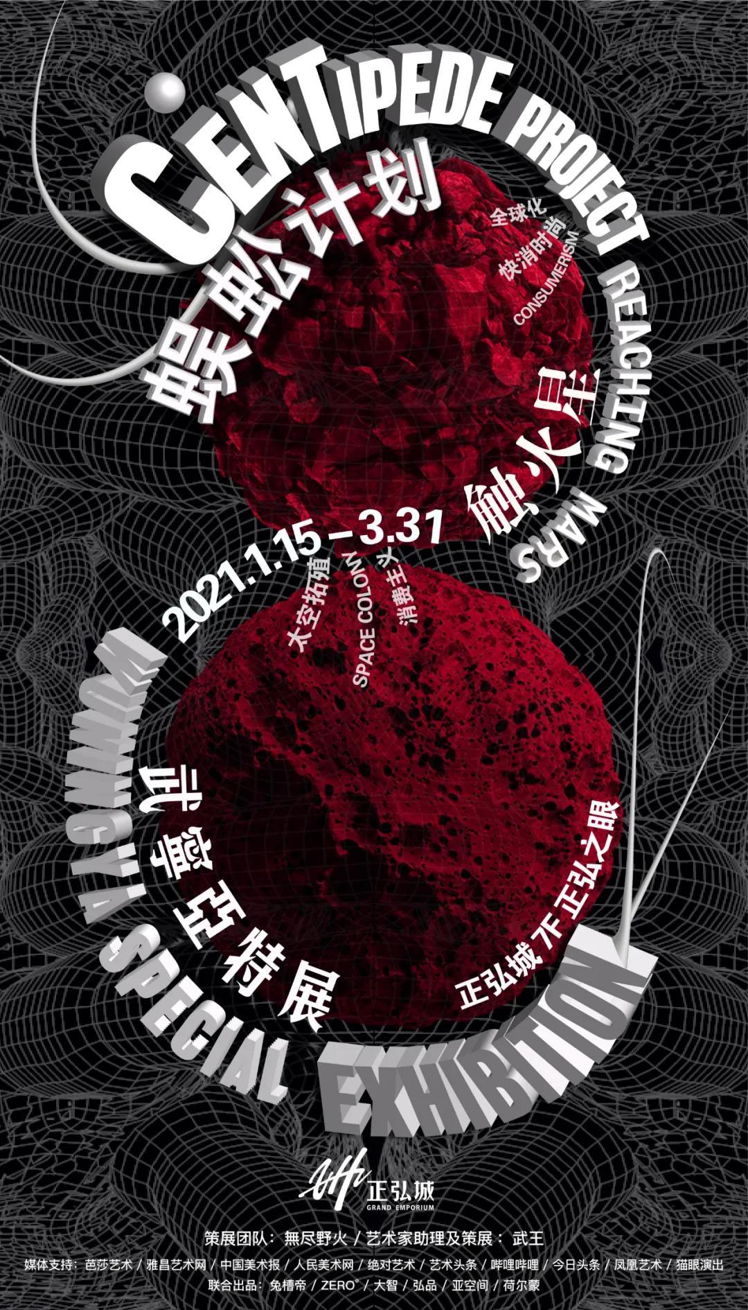 武宁亚郑州《蜈蚣计划触火星》艺术展览