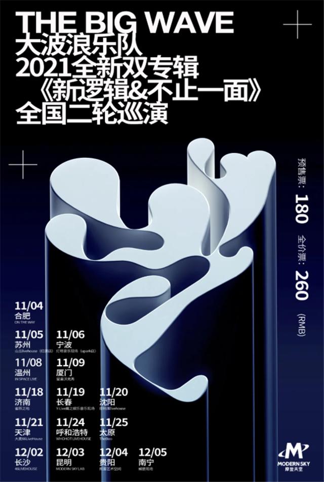 【合肥】大波浪乐队《新逻辑&不止一面》2021双专辑巡演